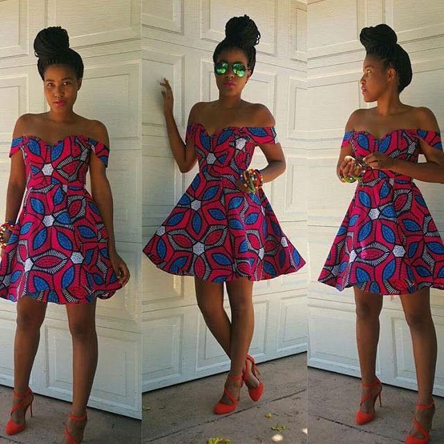 dbf397f9c308b 2017 Wholesale African Wax Best Sexy Off Shoulder African Print Short Dress