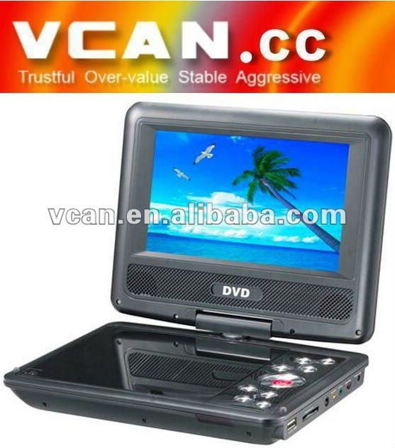 7.5 INCH PORTABLE TFT LCD DVB-T MPEG4 with16:9/4:3 WIDE-ANGLE vcan0078