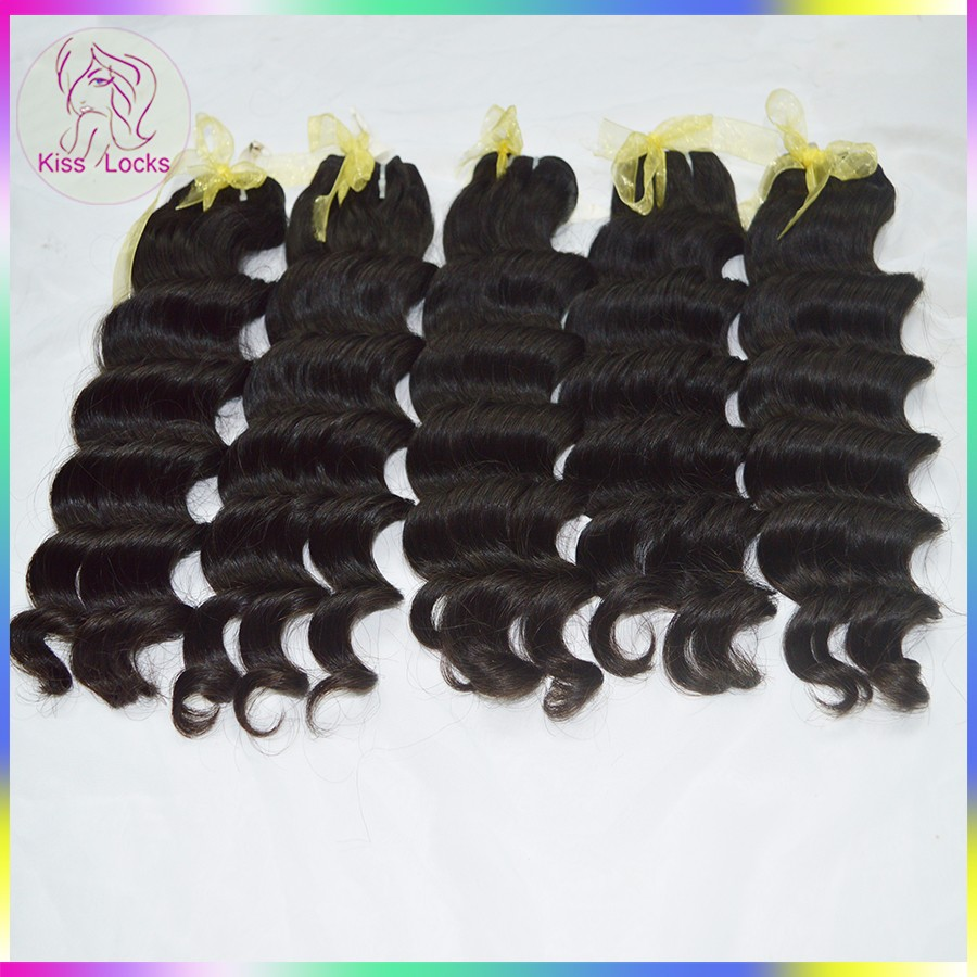 "Chinese large Factory Wholesale Hair In Tangle & Shed Free Human Hair Extensions ocean wave 6""-36"" 100% Raw Laotian Raw Hairs"