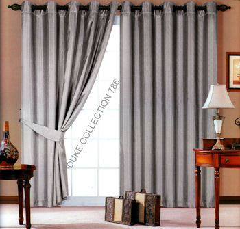 eyelet faux silk lined curtain tie backs colour silvergray size u0026quot90