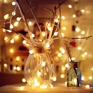 Utility Garland Xmas LED Ball String Light AA Battery 10 20 40 LED Christmas Tree Wedding Party Decor Fairy Lights
