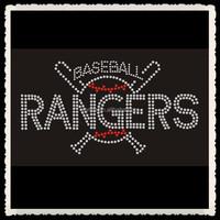 Aprise - Bling Baseball Rangers Rhinestone Transfer Motif For T-Shirt