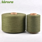 Cheap price NE 28/1 rayon yarn dyed olive cotton yarn recycled