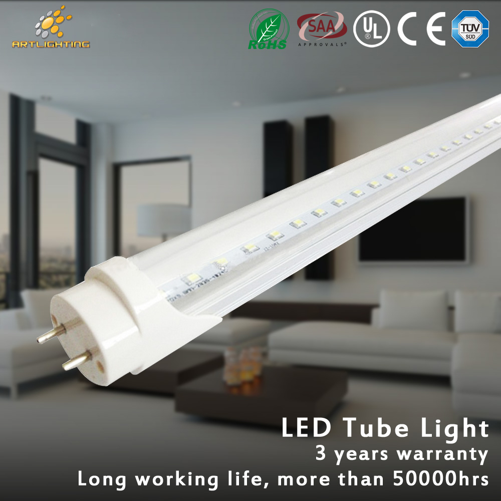 Top sale CE Rohs 90LM/W Ra80 1200mm 18w led tube t8 led tube light
