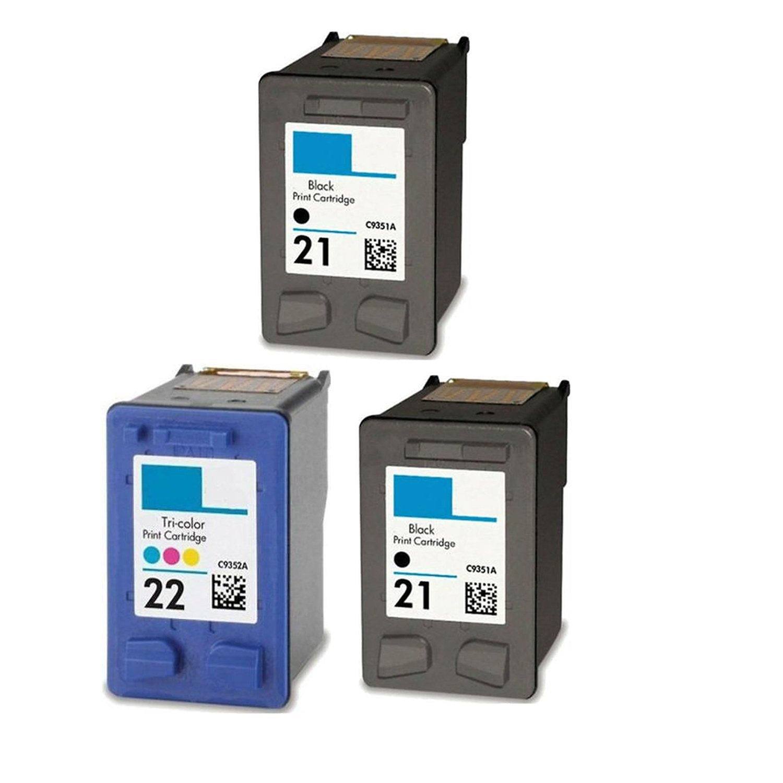 4PK C9351AN C9352AN for HP 21//22 BLACK Tri-COLOR Ink Cartridge Deskjet 3920 3930