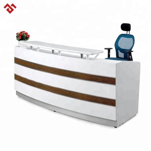 small size hotel reception counter beauty salon front desk table