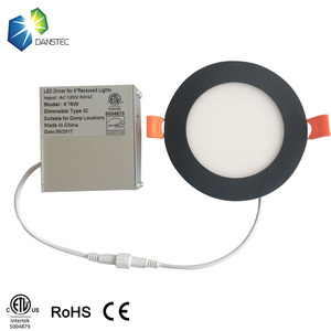 12W Round/square led ceiling light IP44 6inch surface mounted SMD LED panel light 12w