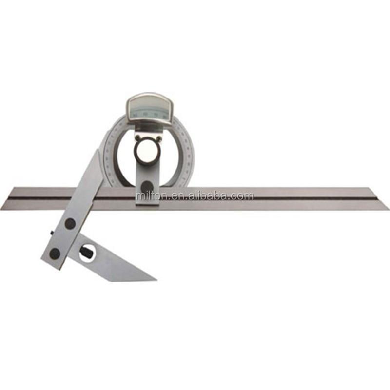 Universal Bevel Protractor w// Magnifier 360 Degree Blades Fine Adjustment