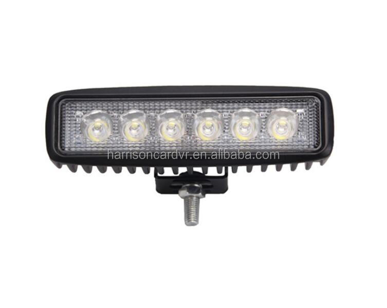 18W 6Led work lights Light Bar Led faros Spot Flood IP67 for Tractor Boat Off Road 4WD 4x4 Truck Tralier mining tractor