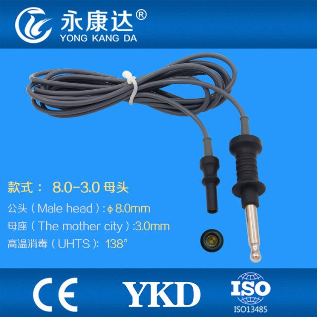 Monopolar electrocoagulation gastroscope electric knife connection cable