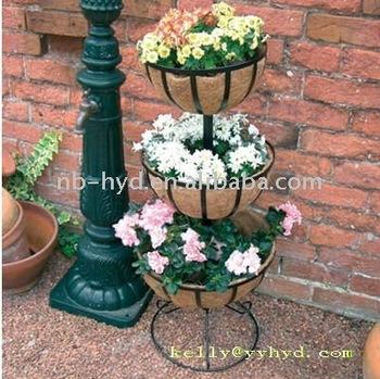 3 Tier Flower Fountain Baskets Buy Plant Stand Flowerpot Basket