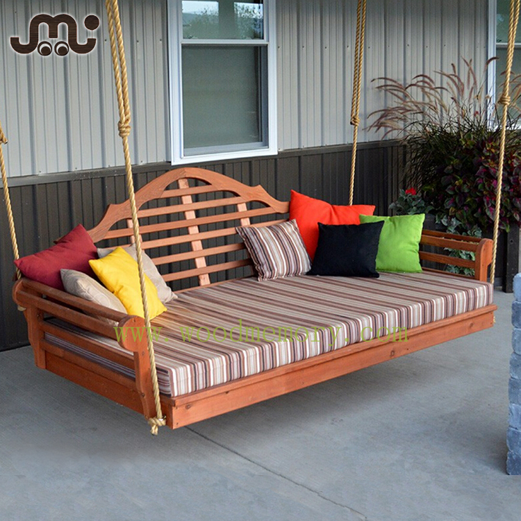 Handmade tranditional 4 ropes wooden garden porch swing