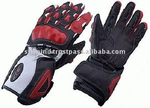 Leather Racing Gloves,Motor Bike Racer Gloves,Sheepskin Leather Gloves