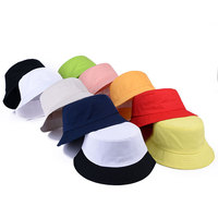 Low MOQ custom logo fashion plain cotton bucket hat wholesale