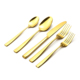 high grade gold plated dinnerware spoon fork and knife set, stainless steel cutlery set