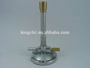 Bunsen Burner/BY110/With threaded needle valve/aluminum mixing tubes/nickel plated, die-cast zinc alloy base/gas mixing