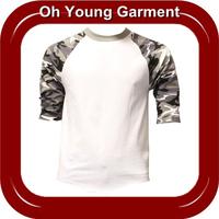 3/4 Sleeve t shirt baseball cotton jersey/Baseball Tees In China/Baseball Team T-Shirts