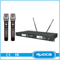 Conference system teachers professional uhf dual channel wireless microphone system