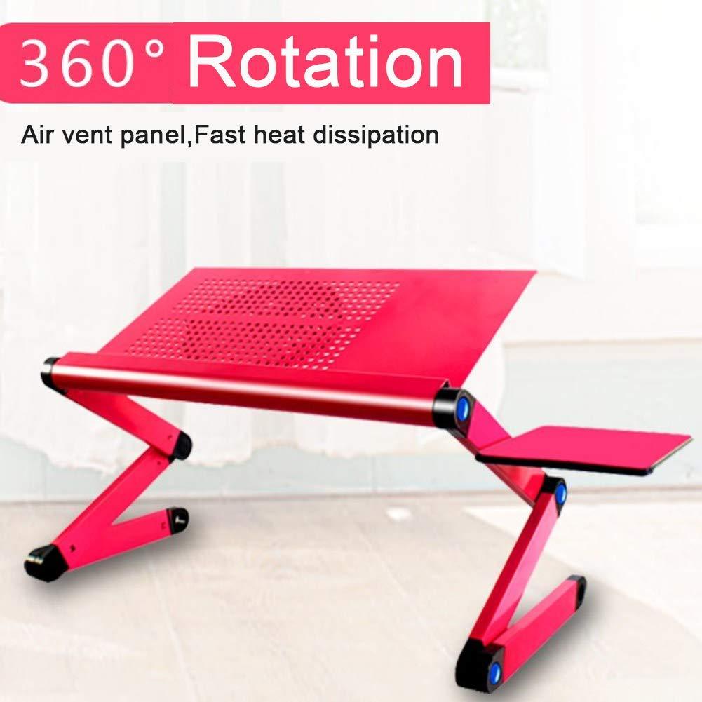 Mobile Laptop Computer Desk Cart,Portable Adjustable Foldable Laptop Computer Desk Stand Table