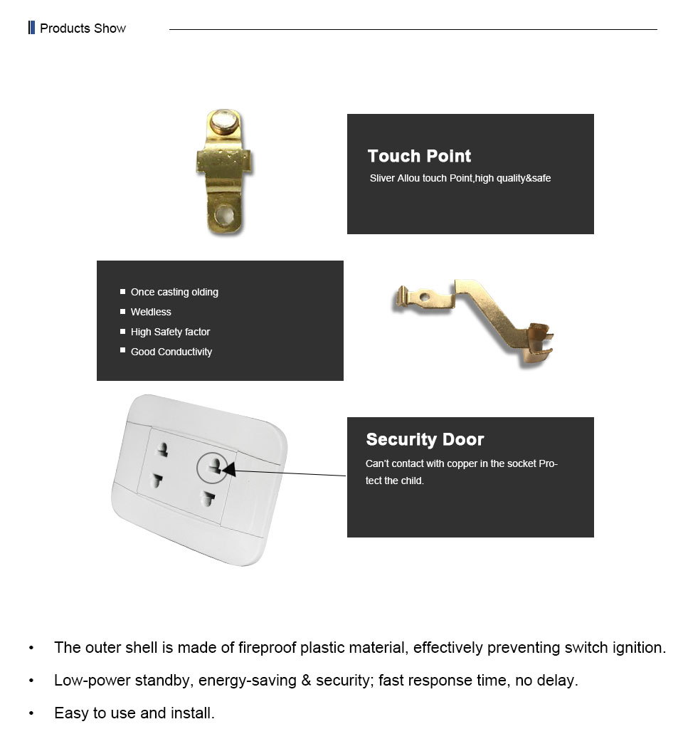 Pakistan Standard Home White Pc Panel 15a Electric Double 2 Pin Wall Socket  - Buy Electric 2 Pin Socket,Double 2 Pin Wall Socket,Multi Socket Wall