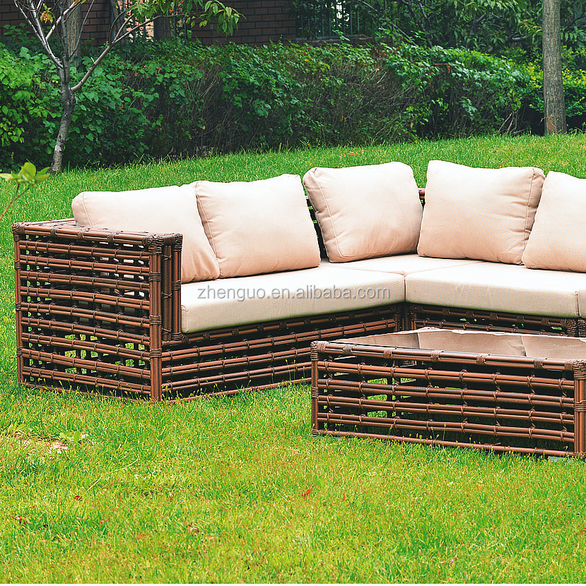 Special Design Long Rattan outdoor Leisure Sectional Sofa