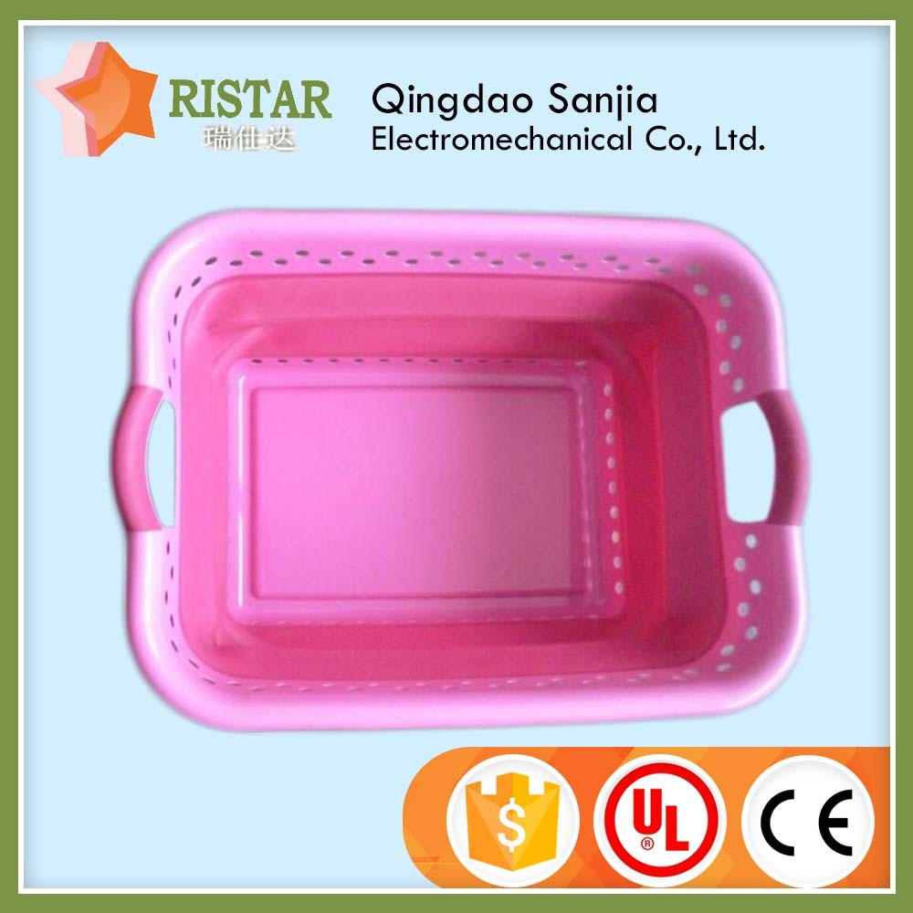 Multifunction collapsible clothes washing tools big size plastic laundry folding basket for home