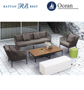 wire chair hotel outdoor rope lounge sofa