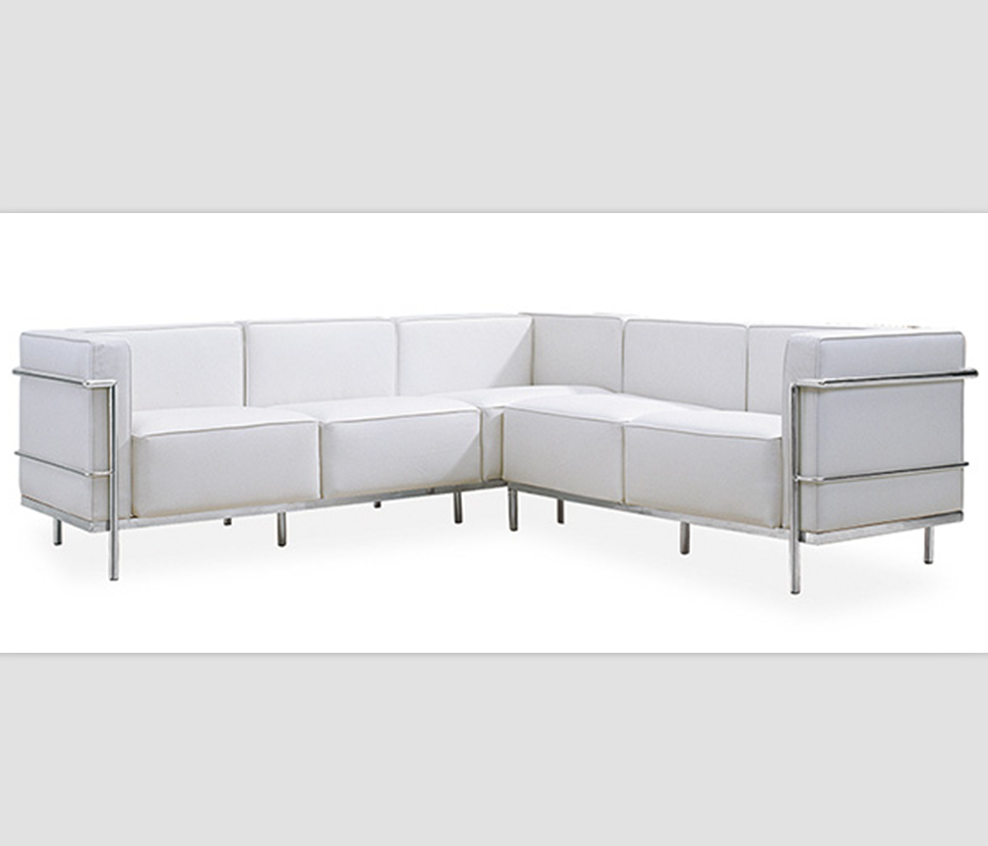 Wondrous Classic Italian Corbusier Used Lc2 7 Seater Stainless Steel Frame White Living Room Furniture Leather Sofa Set Buy Living Room Furniture Leather Ibusinesslaw Wood Chair Design Ideas Ibusinesslaworg