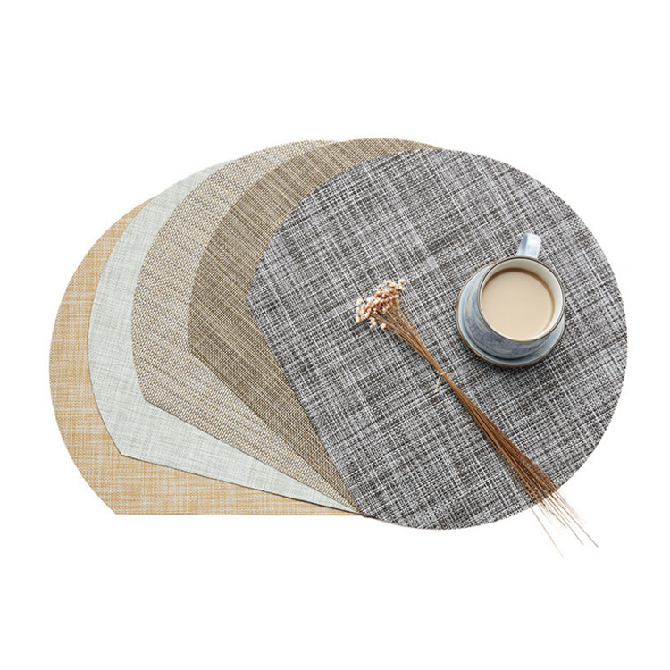 Popular Design Wholesale Chinese Cheap Custom Dining Room Stripe PVC Table Mat <strong>Vinyl</strong> <strong>Placemat</strong> Woven for Restaurant