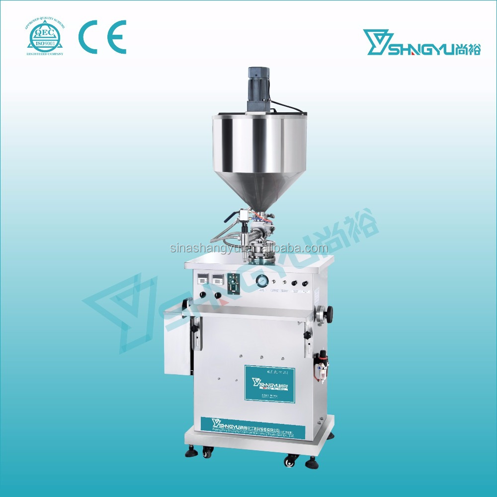 High quality stainless steel shea butter filling machine with heater and mixer