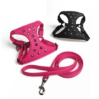 Original Breathable PU Leather Front Plate Harness Carrier Dog Chest With Rivet