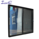 Stainless steel security mesh aluminium Cheap sliding door with double glass panel