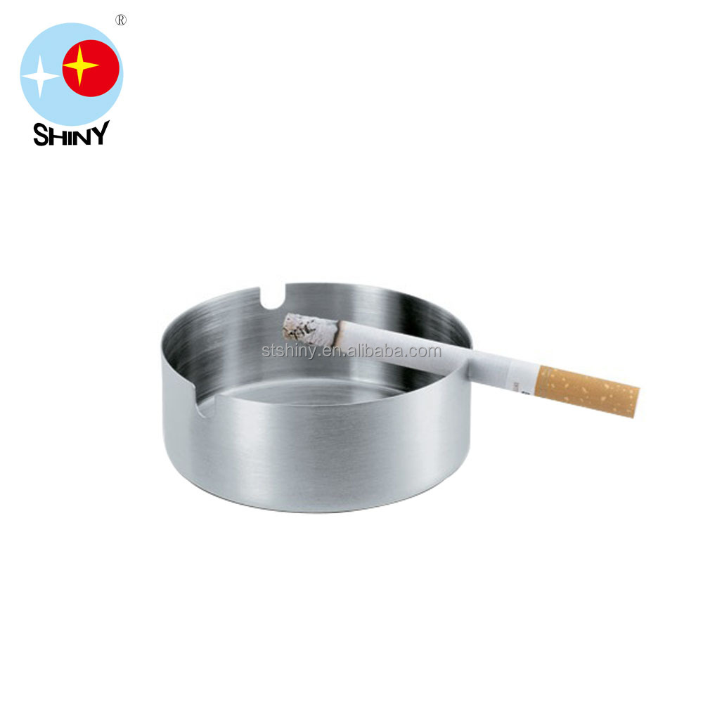 [SHINY] MGOH/ M07 1.2mm Stainless Steel MINI Outdoor Ashtray, Simple Shape Ashtray, Stainless Steel Round Ashtray Bin