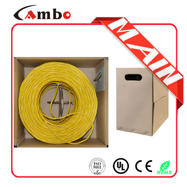Pull-out box packing 100mhz 305M 4 pairs 24awg solid copper cat5e home network cable installation