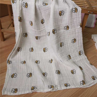 After Washed Eco-friendly Custom Print Blanket Baby and Adult Muslin