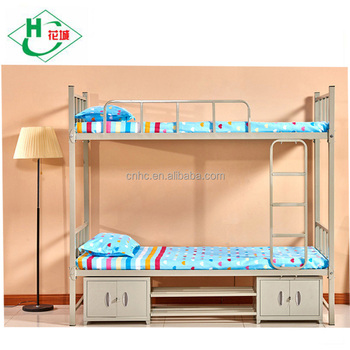 Hot Sale Steel Home Furniture Customized Gray Metal Double Bunk Bed