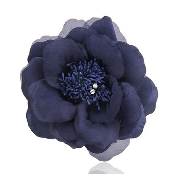 2018 fashion European handmade silk fabric artificial flower brooches