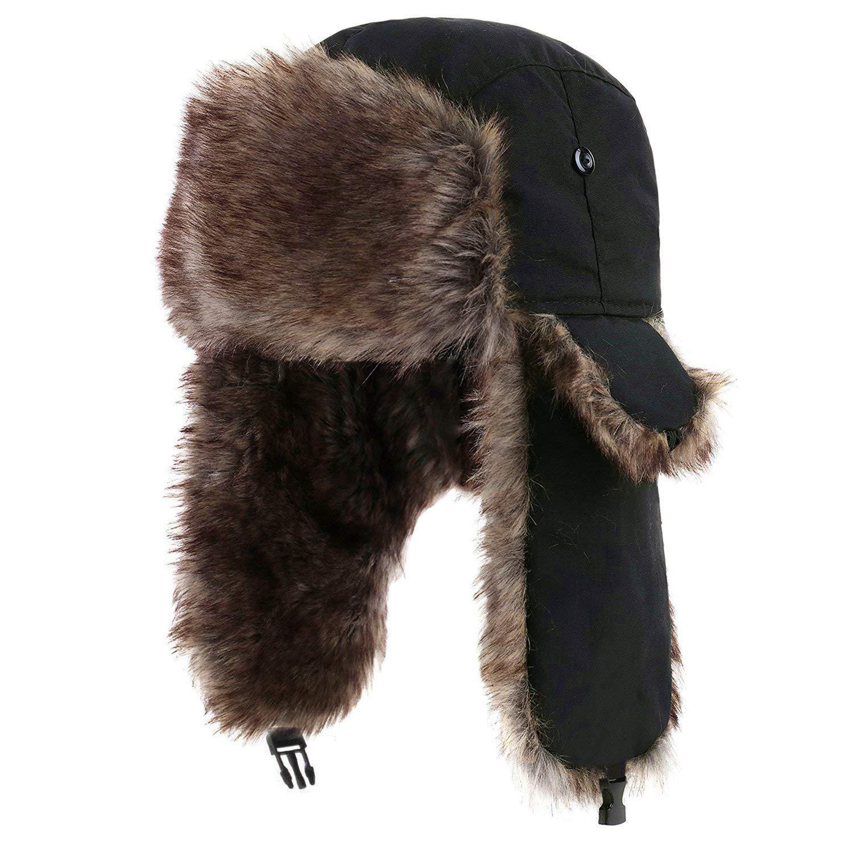 28584885dae7b1 Get Quotations · Yesurprise Trapper Warm Russian Trooper Fur Earflap Winter  Skiing Hat Cap Women Men Windproof