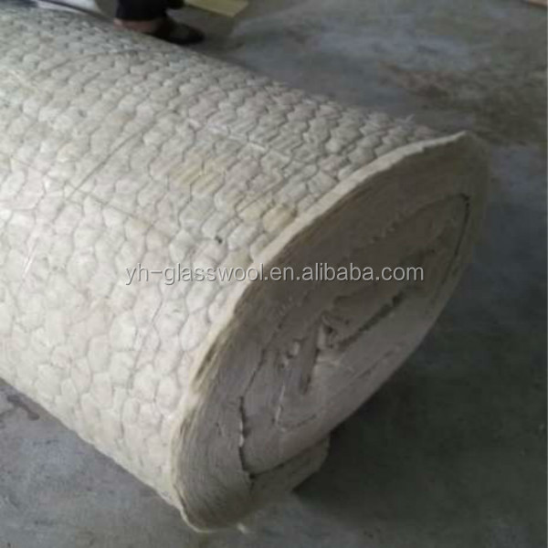 Heat insulation rock wool blanket with gi wire mesh for 2 mineral wool insulation