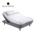 Black Genuine Leather Small Electric Adjustable Bed