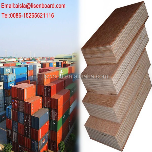 28mm Keruing Container marine Plywood Flooring, Bamboo Container Flooring