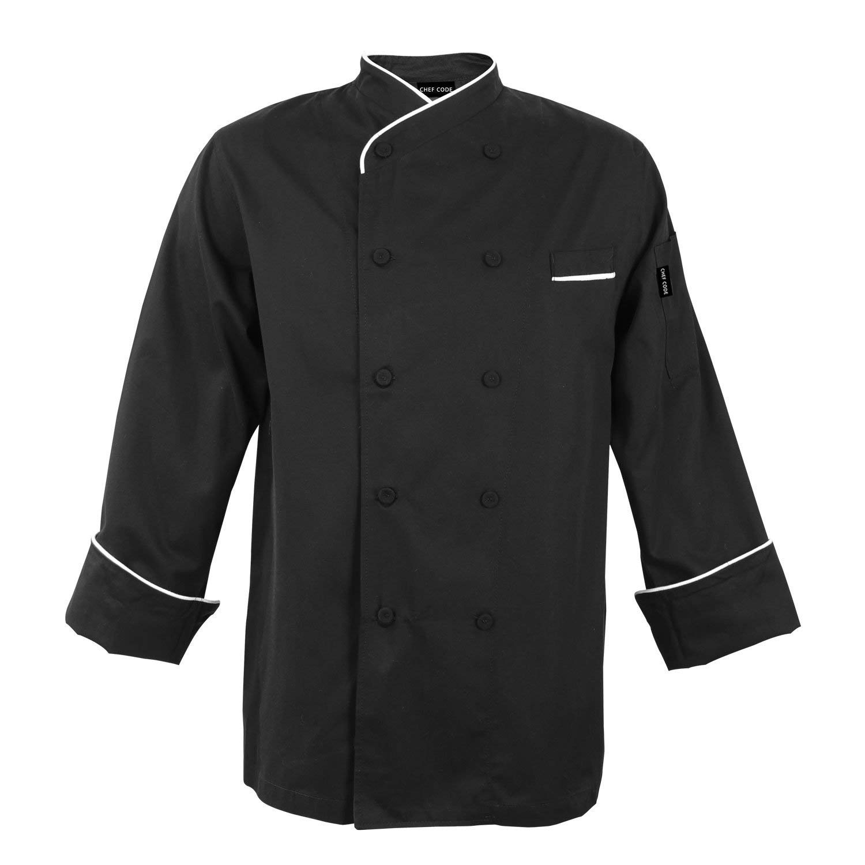 Chef Code Gossypium Prestige Executive Chef Coat Unisex 100% Egyptian Cotton CC111