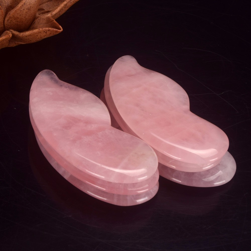 wholesale natural Rose quartz Gua Sha Board