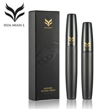 HUAMIANLI Brand Mascara Makeup Set Black 3D Mascara + Natural Fiber Eye Lash Waterproof Curling Lengthening Cosmetics