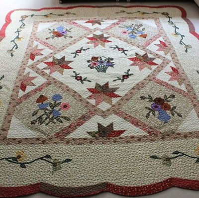 Modern Cotton Applique Flower Turkish Carpets Prices