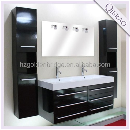Nuevo diseño de alto brillo moderno muebles de baño doble lavabo ...