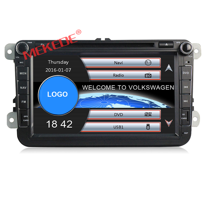 8inch 2-din Car DVD GPS Navigation audio dvd player for VW GOLF 6 new polo New Bora JETTA B6 PASSAT SKODA with 3G 1080 map