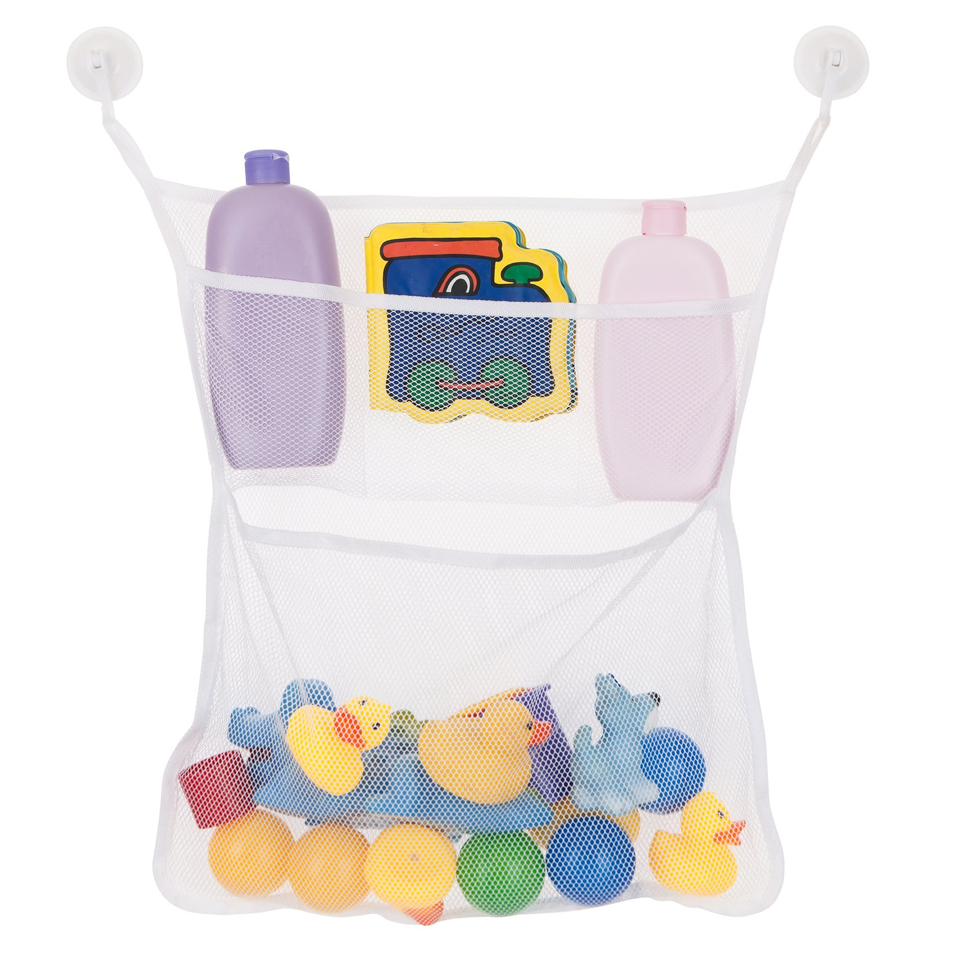 """Bath Toys Organizer net Organize All Your Kids Toys in One Place Large: 14X20"""" The Original Net Toy Organizer Toys Storage Has Never Been Easier Bonus: 2 Additional Suction Cups Included BUY NOW."""