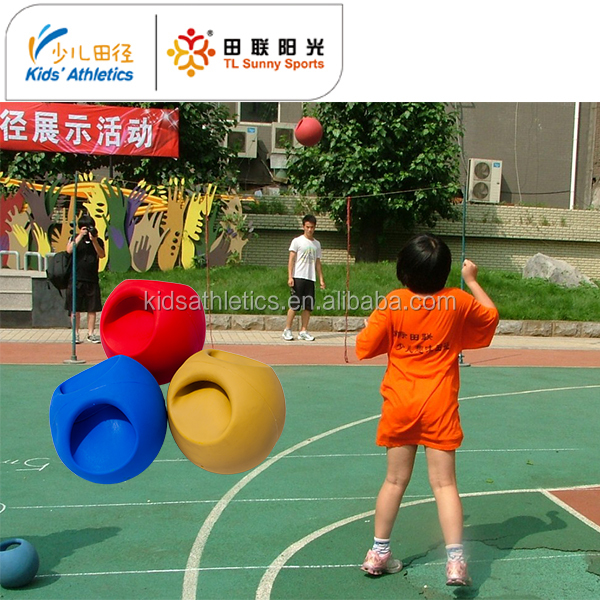 school sports equipment medicine ball with handle for kids athletics training