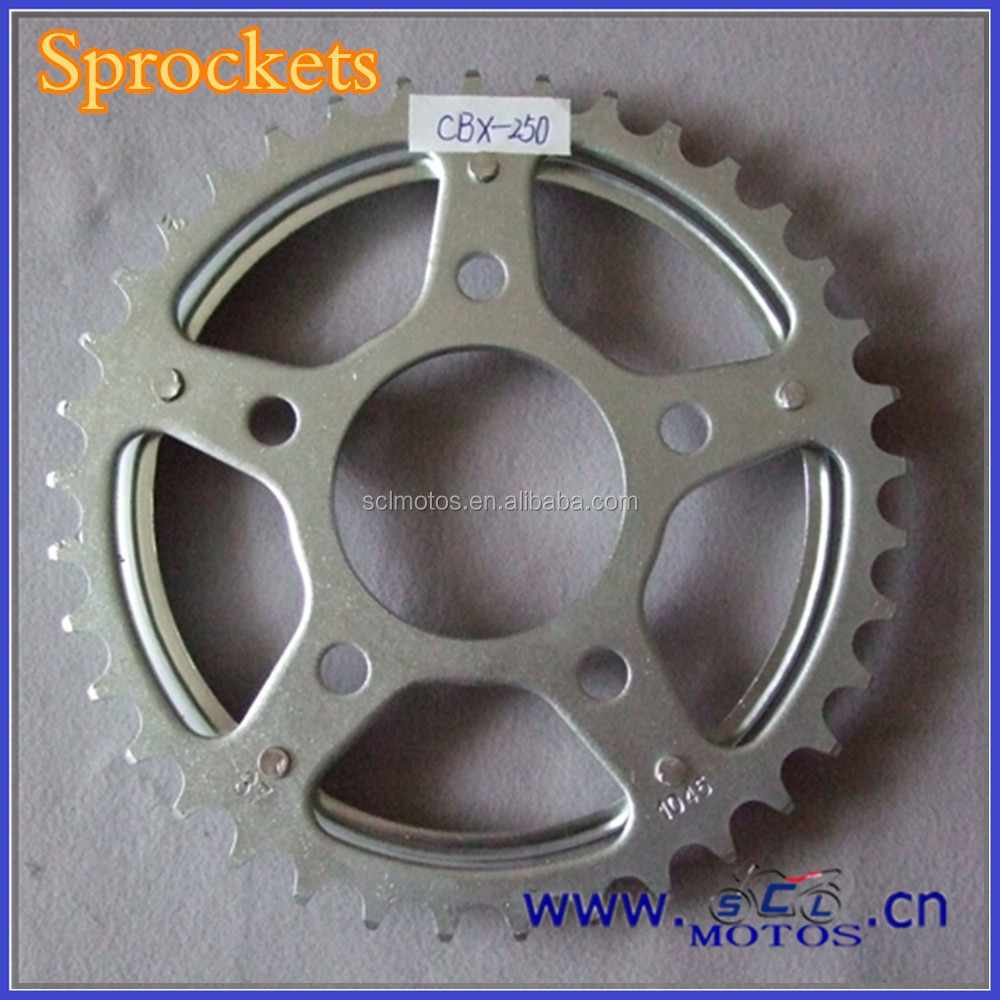 SCL-2012031077 Use 1045 Steel Sprocket Motorcycle Parts CBX250 Twister